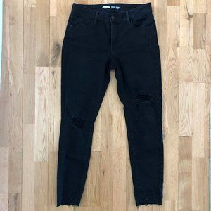 Size 8 Black Distressed Jeans